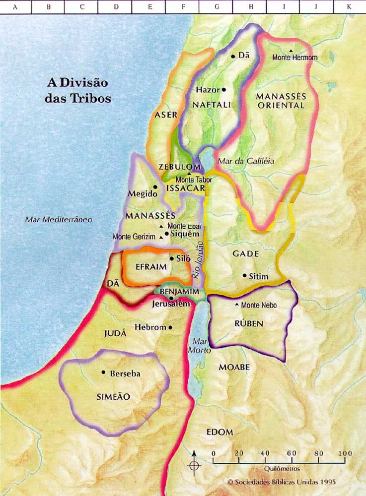 JESUS CHRIST IS ABUNDANT LIFE What Does Tribes Of Israel - Mapa de israel