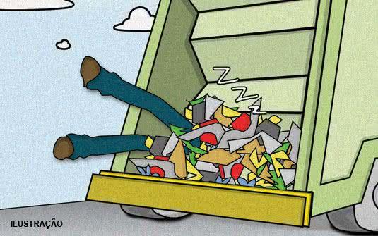 esboços, ilustrações, caminhão de lixo, reflexão